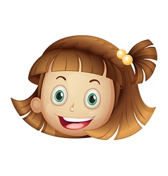 face of a girl vector image vector image