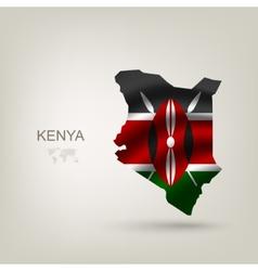 Flag of Kenya as a country vector image vector image