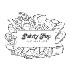 Food template banners with bread vector