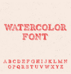 handwritten watercolor font template vector image