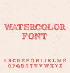 Handwritten watercolor font template vector