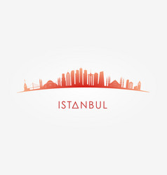 Istanbul turcey skyline silhouette vector