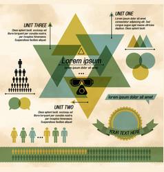 Khaki business diagram infographic vector