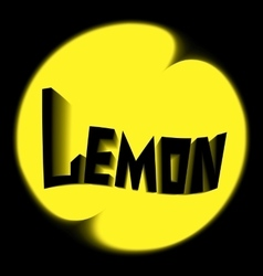 lemon logo black background vector image vector image