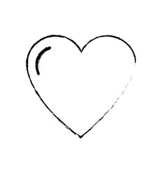 Line nice heart and love symbol design vector
