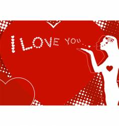 love you symbol vector image vector image