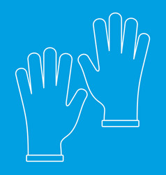 Medical gloves icon outline vector