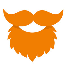 Red beard and mustache icon isolated vector