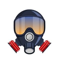 Respirator gas mask icon vector