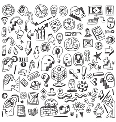 Science thinking - doodles set vector image