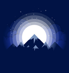 the snow-capped mountains against vector image
