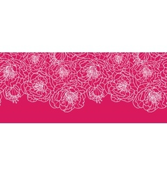 Vibrant red lace flowers horizontal seamless vector image vector image