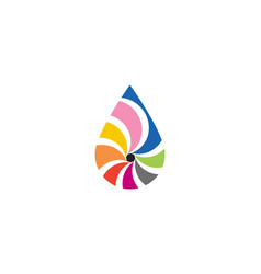 Waterdrop color logo vector