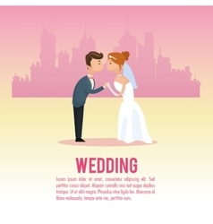Wedding and marriage couple design vector