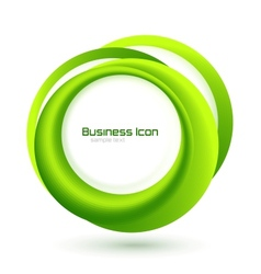 Green eco business emblem vector image