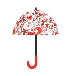 Umbrella background color icon vector