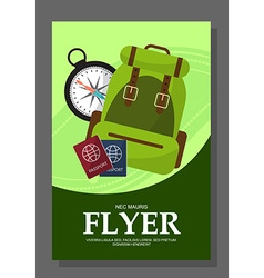 Flyers with the concept of a hike in the mountains vector