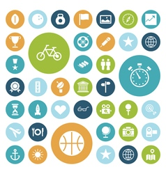 Icons for travel sport and leisure vector