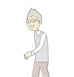 Successful man with glasses vector