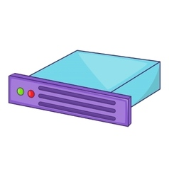 Data storage icon cartoon style vector