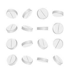 White 3d medical pills or drugs vector
