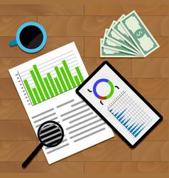 Financial business statistics vector