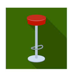 High chair seat near the bar bary chair to relax vector