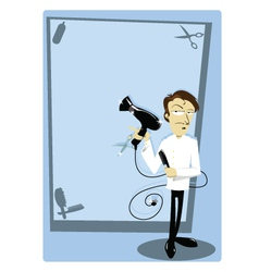 coiffeur with copy space vector image