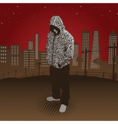 City hoody vector