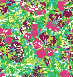 Hawaiian shirt camouflage vector
