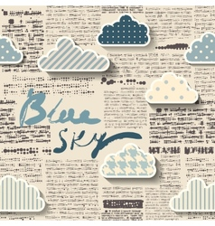 Newspaper with clouds vector