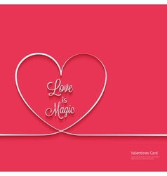 Valentines card with line heart vector