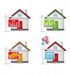 real estate icons set 3 vector image