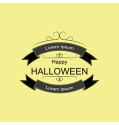 Halloween logo sign with ribbons and curls vector