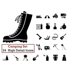 Icon set camping vector