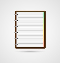 Open blank notebook and reminder note vector