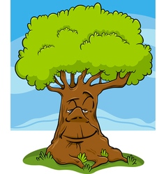 Tree fantasy character cartoon vector