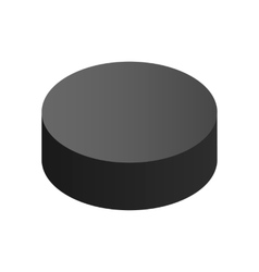 Puck isometric 3d icon vector