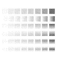 Set 48 star stipple pattern for design tile spots vector