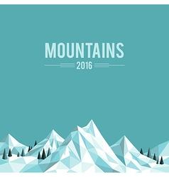 Mountain top white vector image