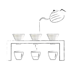 Coffee maker hand-drawn coffee drip vector