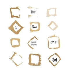 golden ink square frames vector image