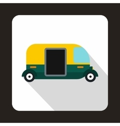 Thailand three wheel native taxi icon flat style vector