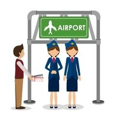 Airport industry design vector