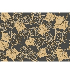 Autumn seamless pattern with leaves of maple vector image