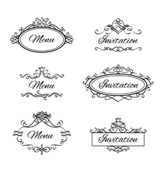 Calligraphic vignettes icons vector image vector image