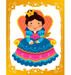 Cartoon queen vector