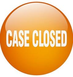 Case closed orange round gel isolated push button vector
