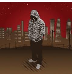 City hoody vector