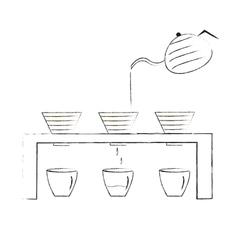 Coffee maker hand-drawn coffee drip vector